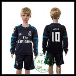 Real Madrid Camisas Futebol James Manga Longa 2015 2016 Iii Infantil