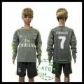 Real Madrid Camisas Ronaldo Manga Longa 2015/2016 Ii Infantil