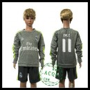 Real Madrid Uniforme Futebol Bale Manga Longa 2015/2016 Ii Infantil