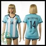 Argentina Camisas Futebol Mascherano 2015/2016 I Feminina