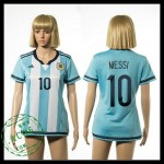 Argentina Camisas De Futebol Messi 2015 2016 I Feminina