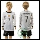 Alemanha Camisas De Futebol Schweinsteiger Manga Longa Euro 2016 I Infantil