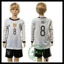 Alemanha Camisa Ozil Manga Longa Euro 2016 I Infantil