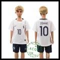 França Camisa Futebol Zidane Euro 2016 Ii Infantil