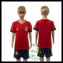 Espanha Camisas Futebol Euro 2016 I Infantil