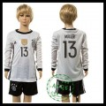 Alemanha Camisa De Futebol Muller Manga Longa Euro 2016 I Infantil