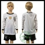 Alemanha Camisa Du Futebol Manga Longa Euro 2016 I Infantil
