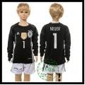 Alemanha Camisas Futebol Manuel Neuer Manga Longa Goleiro Euro 2016 I Infantil