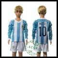 Argentina Camisas Du Futebol Messi Manga Longa 2015 2016 I Infantil