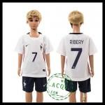 França Camisas De Futebol Ribery Euro 2016 Ii Infantil