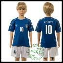 Itália Camisas Futebol Verratti Euro 2016 I Infantil