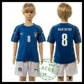 Itália Uniforme De Futebol Marchisio Euro 2016 I Infantil