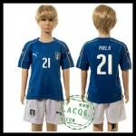 Itália Uniformes Futebol Pirlo Euro 2016 I Infantil