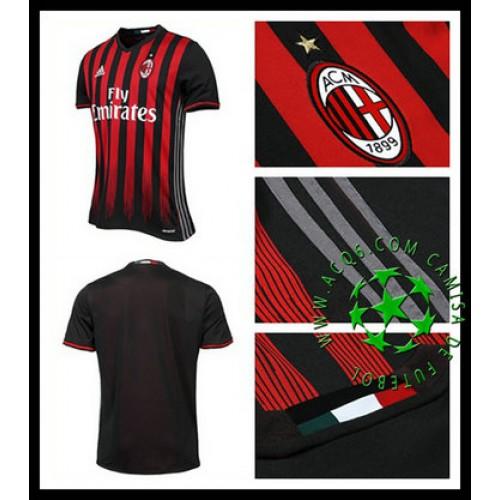 5e899c1cedb29 Camisas Ac Milan 2016 2017 I Masculina - camisolas de futebol AC ...