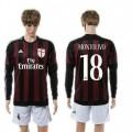 Ac Milan Camisas De Futebol Montolivo Manga Longa 2015-2016 I Masculina