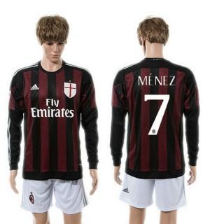 Ac Milan Camisas Futebol Menez Manga Longa 2015 2016 I Masculina