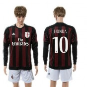 Ac Milan Uniforme Futebol Honda Manga Longa 2015 2016 I Masculina