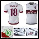 Camisas De Futebol Ac Milan (18 Montolivo) 2015-2016 Ii Masculina