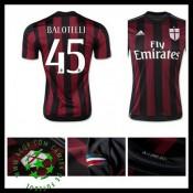Camisas Futebol Ac Milan (45 Balotelli) 2015 2016 I Masculina 6db2205f13cf9