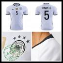 Camisetas (5 Hummels) Alemanha Autêntico I Euro 2016 Masculina