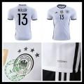 Camisas Futebol (13 Muller) Alemanha Autêntico I Euro 2016 Masculina