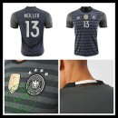 Camisas De Futebol (13 Muller) Alemanha Autêntico Ii Euro 2016 Masculina