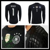 Camisa (1 Neuer) Alemanha Autêntico I Manga Longa Euro 2016 Goleiro 68dcfa201dfd4