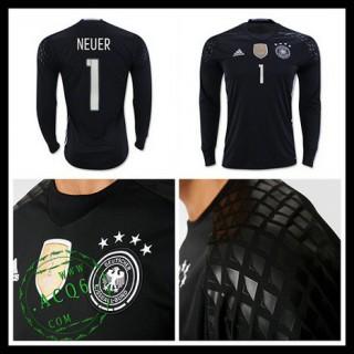 Camisa (1 Neuer) Alemanha Autêntico I Manga Longa Euro 2016 Goleiro