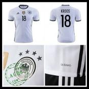Camisa De Futebol (18 Kroos) Alemanha Autêntico I Euro 2016 Masculina e62740692ea8f