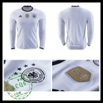 Camisa Du Futebol Alemanha Autêntico I Manga Longa Euro 2016 Masculina
