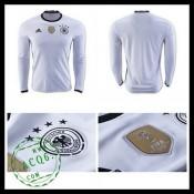 Camisa Du Futebol Alemanha Autêntico I Manga Longa Euro 2016 Masculina 062345c2ca08e