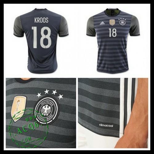 Camisa Futebol (18 Kroos) Alemanha Autêntico Ii Euro 2016 Masculina ... e2f8511a3111a