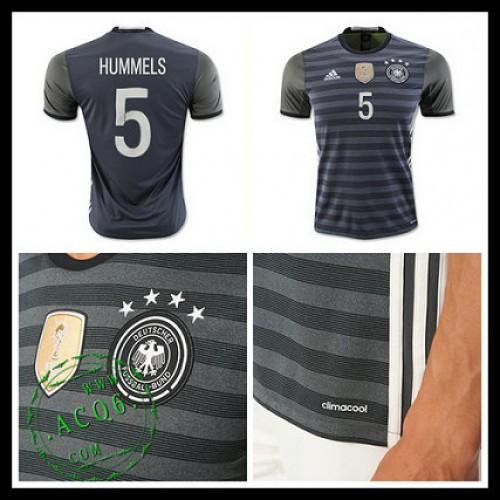 Camisa Futebol (5 Hummels) Alemanha Autêntico Ii Euro 2016 Masculina ... deb25c7f29d79