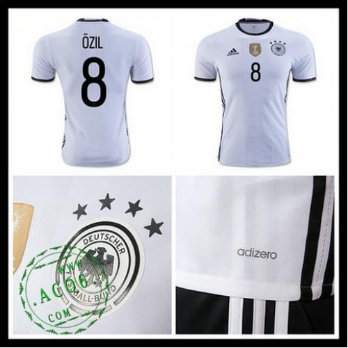13a33eead0 Camisa Futebol (8 Ozil) Alemanha Autêntico I Euro 2016 Masculina ...