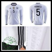 Camisas Futebol (5 Hummels) Alemanha Autêntico I Manga Longa Euro 2016  Masculina e9924b17173f0