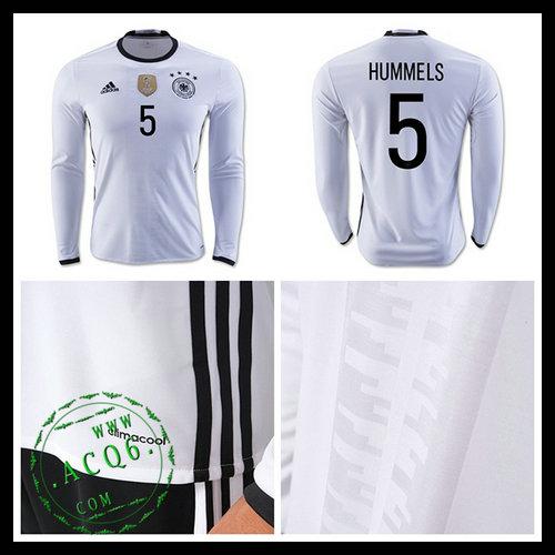 e5cdd90047 Camisas Futebol (5 Hummels) Alemanha Autêntico I Manga Longa Euro 2016  Masculina