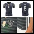 Camisas Futebol (8 Ozil) Alemanha Autêntico Ii Euro 2016 Masculina
