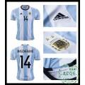 736c178176 De Vendas Camisa De Futebol Mascherano Argentina Masculina 2016-2017 I Loja  On-Line