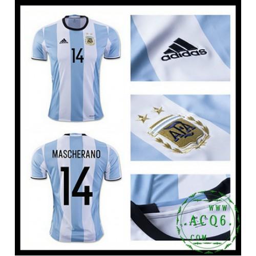 36a25c72e7 De Vendas Camisa De Futebol Mascherano Argentina Masculina 2016-2017 I Loja  On-Line