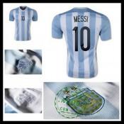 Camisa De Futebol Argentina (10 Messi) 2015 2016 I Masculina