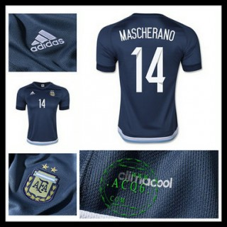 Camisa Futebol Argentina (14 Mascherano) 2015 2016 Ii Masculina