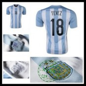 Camisas Du Futebol Argentina (18 Tevez) 2015 2016 I Masculina