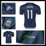 Camisas Futebol Argentina (11 Aguero) 2015/2016 Ii Masculina