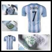 Camisas Futebol Argentina (7 Di Maria) 2015 2016 I Masculina ddd324790c6ec