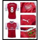 Camisa De Futebol Arsenal Ramsey 2016-2017 I Masculina