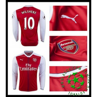 Uniforme De Futebol Arsenal Ramsey Manga Longa 2016/2017 I Masculina