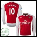 Comprar Camisa De Futebol Manga Longa Wilshere Arsenal Masculina 2015 2016 I Online Store