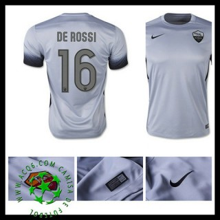 Uniforme Futebol As Roma (16 De Rossi) 2015-2016 Iii Masculina
