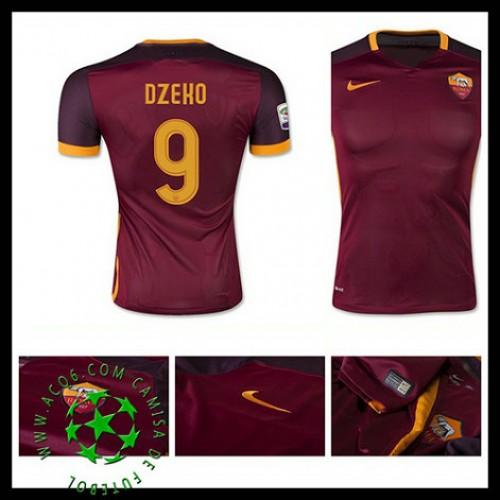 5ec2204943 Uniformes Futebol As Roma (9 Dzeko) 2015 2016 I Masculina ...