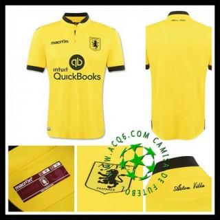 Camisa De Futebol Aston Villa 2015-2016 Ii Masculina